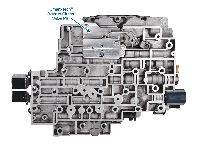 4L80/85-E Remanufactured Valve Body with Smart-Tech® overrun clutch valve kit pre-installed